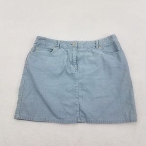 J Crew Skirt 6 Corduroy Light Blue Short A-line St